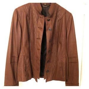 Elie Tahari Leather Jacket, L